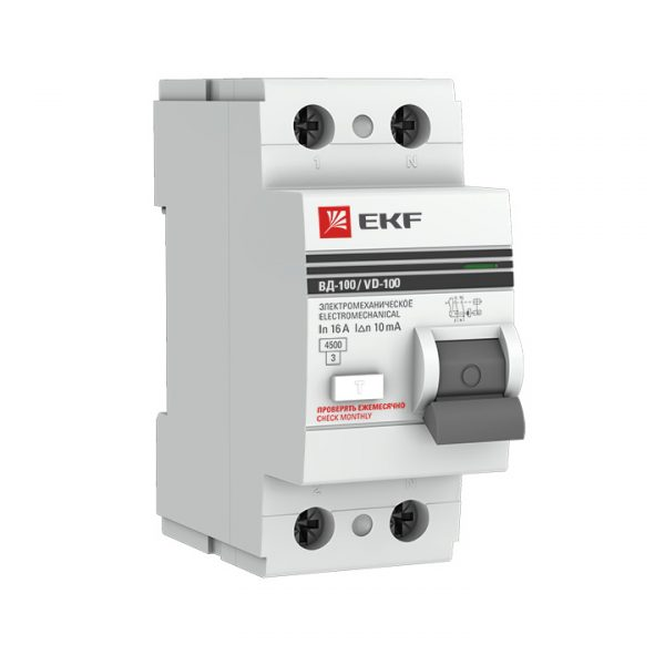 Устройство защитного отключения DV 4P 100А/ 30мА (G) EKF AVERES