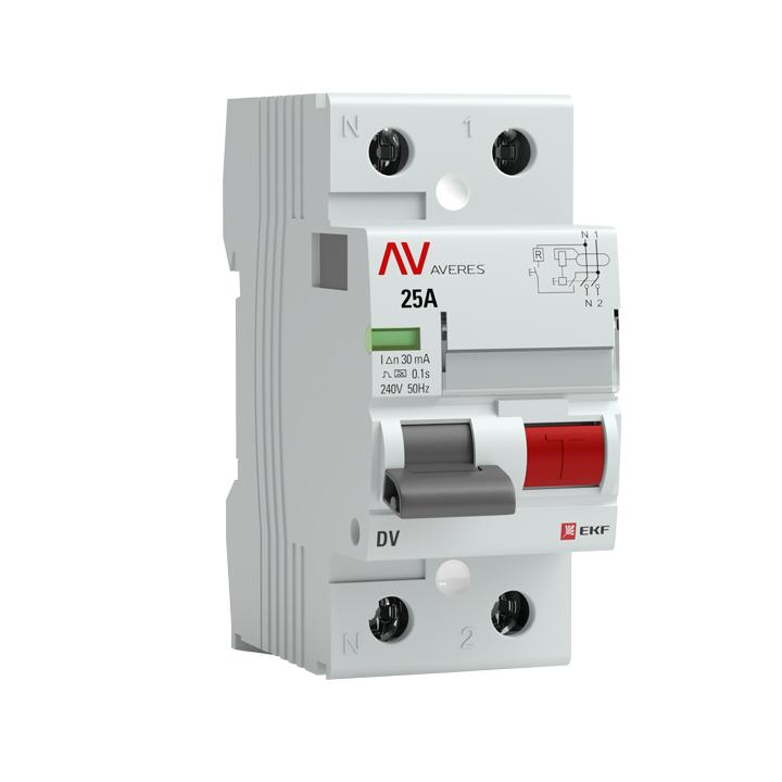 Устройство защитного отключения DV 2P 100А/500мА (AC) EKF AVERES