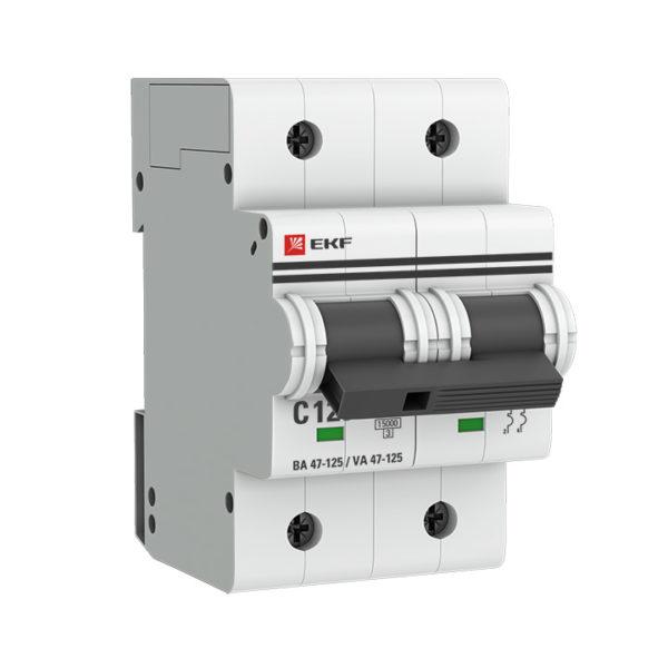 Автоматический выключатель 2P 100А (D) 15кА ВА 47-125 EKF PROxima