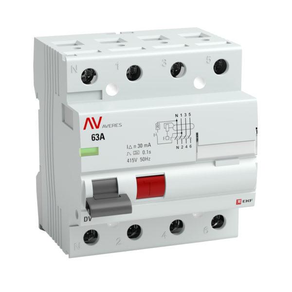 Устройство защитного отключения DV 2P  40А/300мА (AC) EKF AVERES